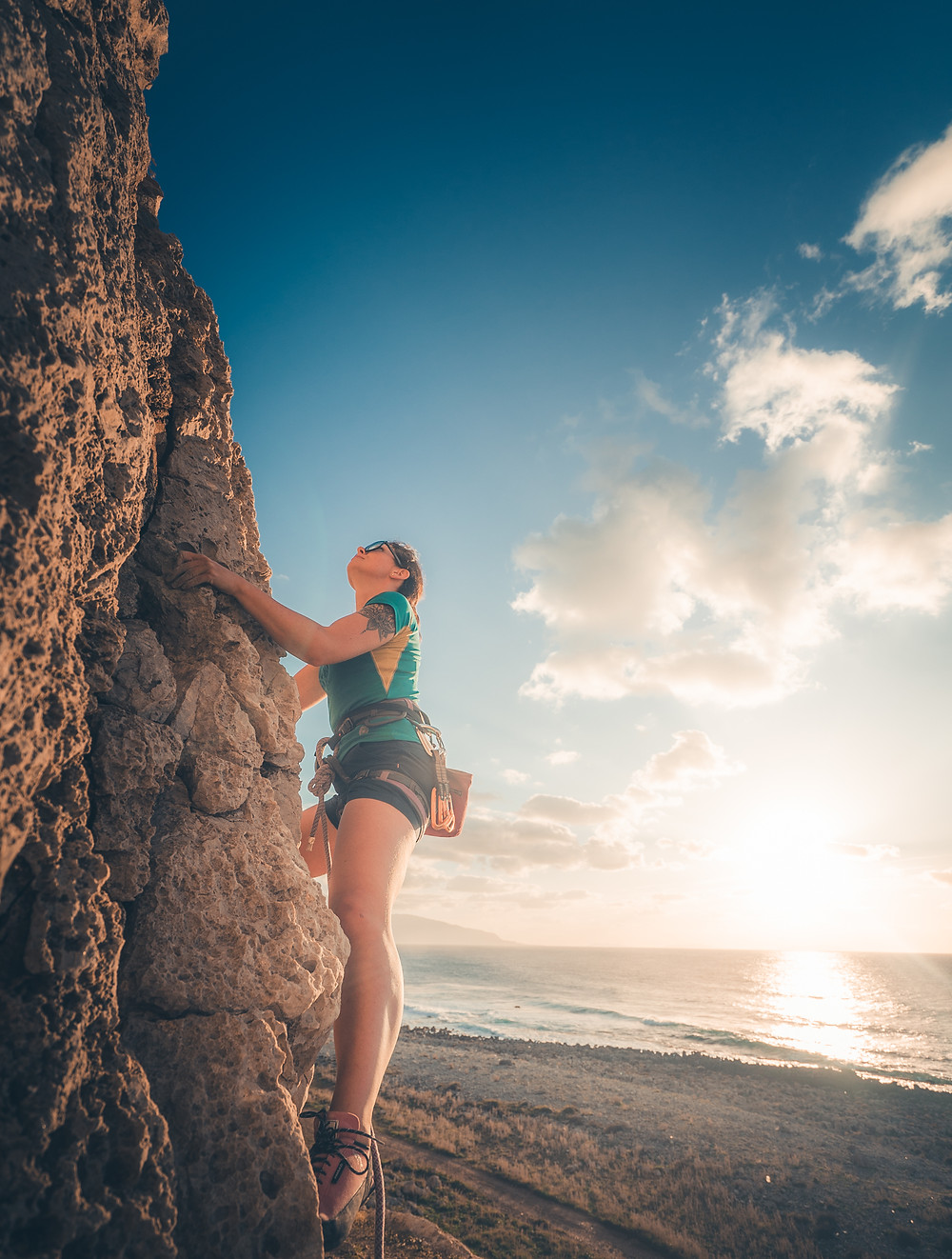 joga i wspinanie na Sycylii