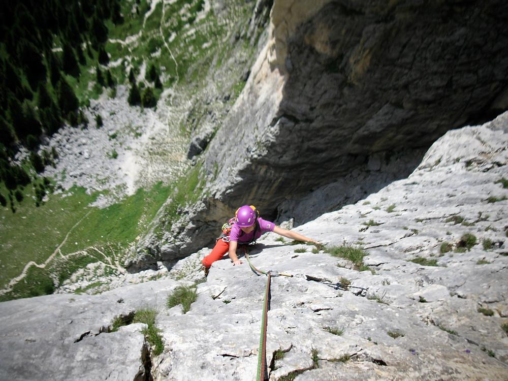 """""""Via delle Guide"""" (VI-), Piz Ciavazes, Dolomity"""