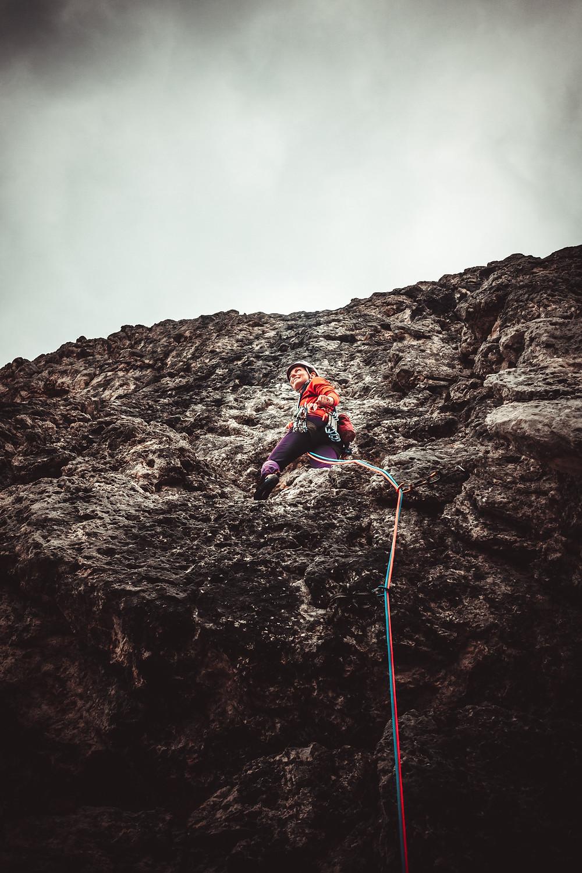 wspinanie na Croda Negra w Dolomitach