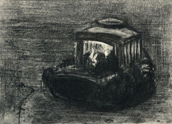 9a. Kabataş 2 ( 15cm x 20cm ) charcoal