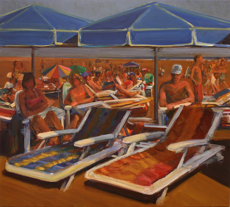 27. Beach group ( 75in x 79in, 190cm x 2