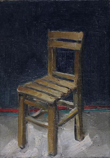 4. Chair 2 ( 16cm x 11.5cm) oil on canva