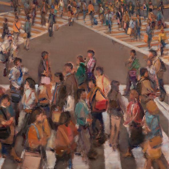 Crosswalk V (120cm x120cm, 47in x 47in)