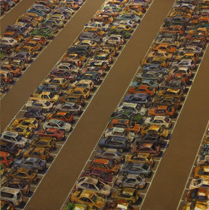 8. Car park IX ( 79in x 79in, 200cm x 20