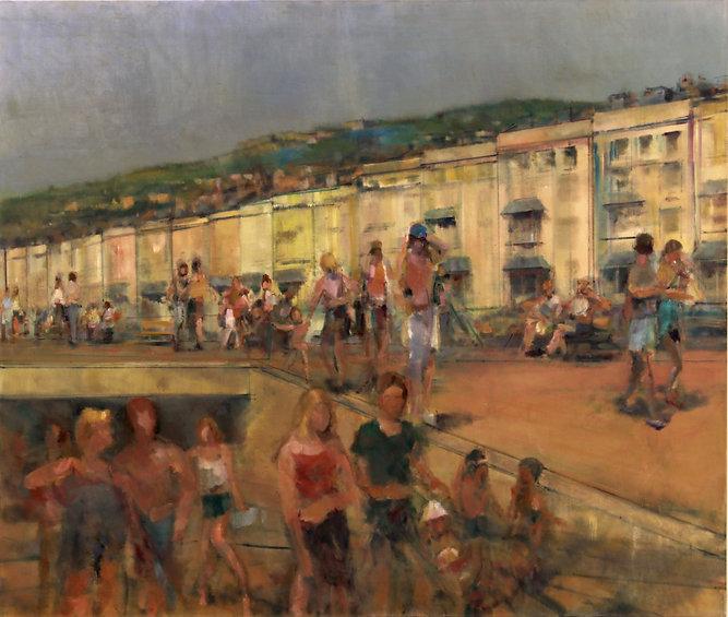 25. Promenade IV ( 145cm x 165cm) oil on