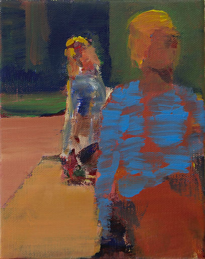 19. Two figures (8.7in x 7.9in, 22cm x 2