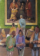 Hermitage II ( 200cm x 175cm) acrylic on