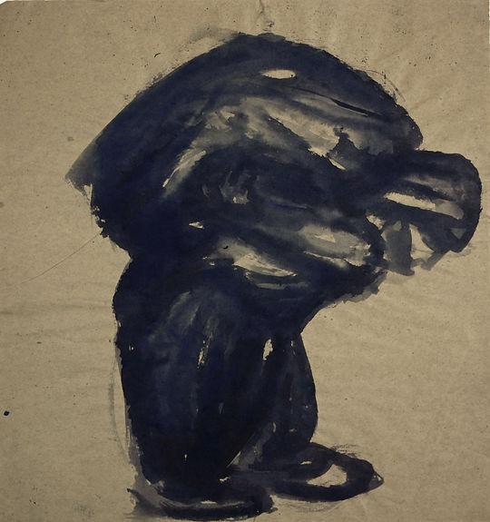 9d. Figure ( 45cm x 40cm) ink on pape, 1