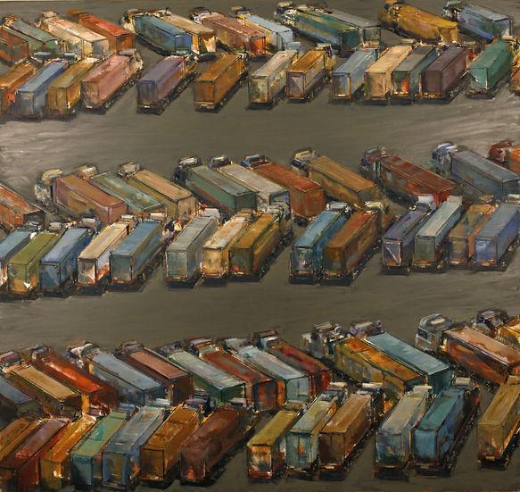 21. Truck lot II ( 61in x 65in, 155cm x