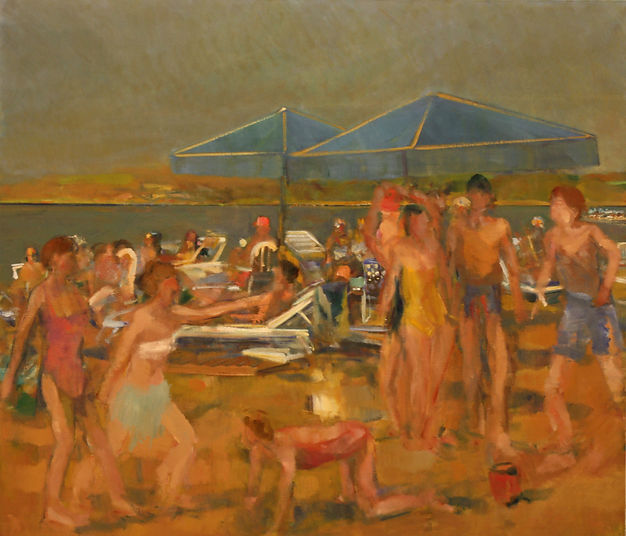 16. Beach spartans  ( 145cm x 160cm) oil