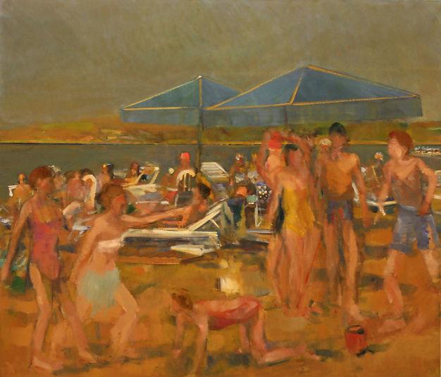 16. Beach spartans  ( 145cm x 160cm) oil