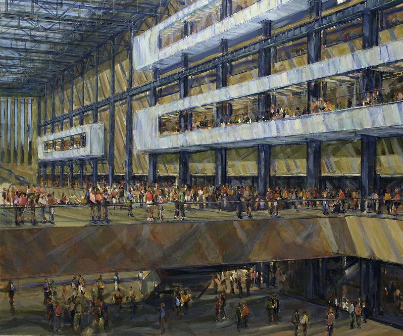 4. Bankside II  ( 80in x 94in, 200cm x 2