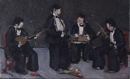 Musicians (8cm x 13cm) oil on canvas, 1
