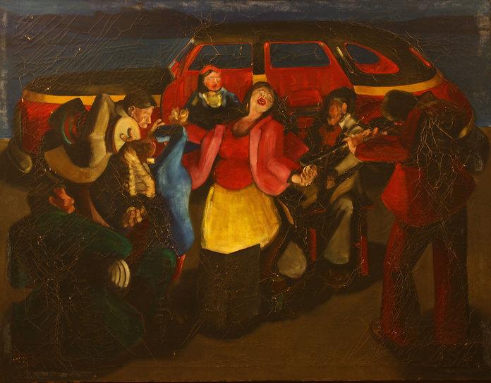 1. Alem ( 160cm x 175cm ) oil on canvas