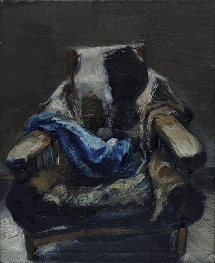 3. Chair 1 ( 16cm x 13cm) oil on canvas,