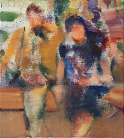 86. Two figures (12.9in x11in, 33cm x28c