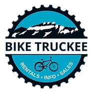 Bike Truckee Logo.  Tahoe and Truckee's premier bike rental shop. Mountain Bike in Truckee Tahoe. Truckee Bike Rentals is Tahoe's premier bike rental outfitter.  Ebikes, mountain biks, comfort bikes, cruisers, trailabikes, and more! Reserve your bike today!