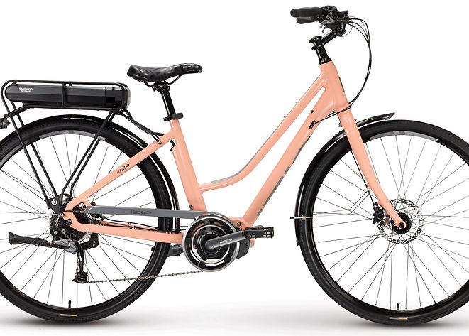 Buy your ebike, or electric bike, today from Bike Truckee, Tahoe's premier ebike store. The Path Plus features the efficient Shimano Steps mid-drive motor, a 418ah battery pack, and hydraulic disk brakes. The rear rack and fenders make it perfect for commuting and errand running.