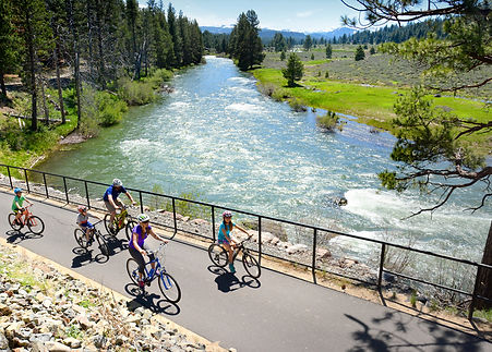 This is Truckee's signature trail.  It follows the river for 6 miles and ends with a climb to the Glenshire neighborhood.  Treat yourself to an ice cream cone at the Glenshire General Store, or enjoy pizza and a beer at Glenshire Pizza Company.  A great ride for the whole family. Things to do in Truckee and Tahoe!