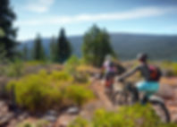 Experience the epic single track of Truckee ad Tahoe. This trail is a beautiful beginner/intermediate 9mile challenging single track trail with less 1000 vertical ft of climbing thatis close to downtown Truckee. This trail winds its way through the forest and has some great views of the Truckee River canyon and the Sierra Crest ridge. Longer options are available from this trailhead.  Bike Truckee can help you plan your bike adventures in Tahoe!