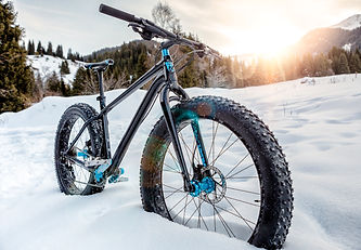 Fat-bike on the snowy mountain trail.jpg