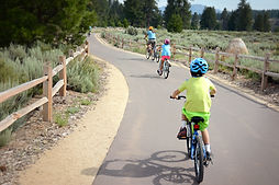 Rent bike fo the whole family.  Kids love our bikes and trailabikes.  Family Fun! Mountain Bike in Truckee Tahoe. Truckee Bike Rentals is Tahoe's premier bike rental outfitter.  Ebikes, mountain biks, comfort bikes, cruisers, trailabikes, and more! Reserve your bike today!