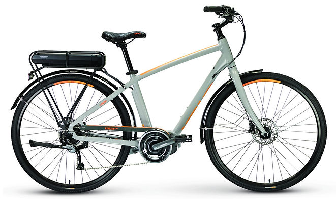 Buy your ebike, or electric bike, today from Bike Truckee, Tahoe's premier ebike store. The Path Plus features the powerful Shimano Steps mid-drive motor, a 418ah battery pack, and hydraulic disk brakes. The rear rack and fenders make it perfect for commuting and errand running.