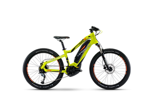 """Kids love ebikes too!  This is a 24"""" wheeled ebike that is fully capable of off road adventures or cruising the bike paths. An air front shock and powerful disk brakes makes this a trail master. The 12mph limiter will keep Jr. fromleaving you in the dust  Rent this bike today from Bike Truckee."""