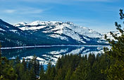 Donner Lake with reflection of Donner Pe
