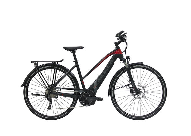 Ebikes are awesome! See what the buzz is about! Bike Truckee is Tahoe's premier electric bike retailer. The LACUBA EVO E45S is the newest speedy eTrekking bike powered by Brose. Pedal assist to 28mph and available in three frame styles, this bike fits a myriad of riders. Great for your trip to the store or across the country. The63mm of front suspension and 700C tires absorb vibrations and maintain confident handling for the long haul. Check out an ebike today!