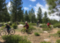 Experience the epic single track of Tahoe! Tahoe Donner has 23 miles of trails that arewell marked and maintained. There areboth fire roadsand challengingsingle track with great views for riders of all abilities. At the base there isa great lodge with post ridefood and drinks at The Alder Creek Cafe.