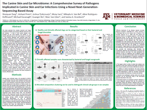 Canine skin microbiome poster