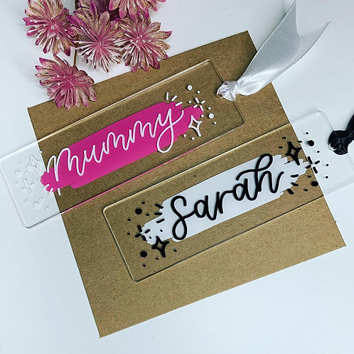 Hand Lettered Acrylic Bookmark