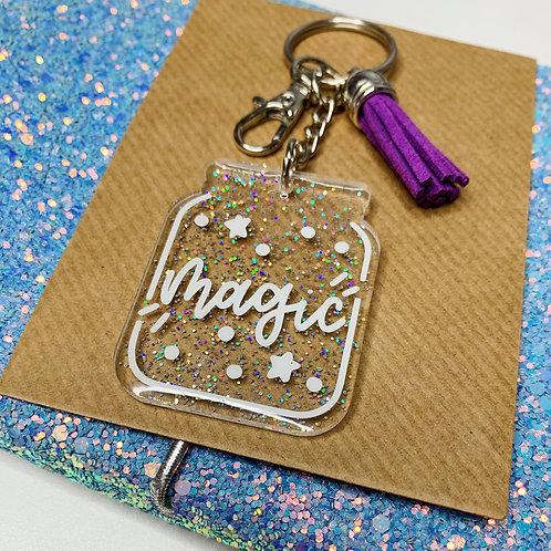 Little Jar of Magic Resin Keychain