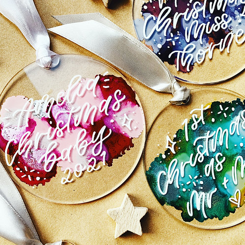 Colourful Personalised Bauble