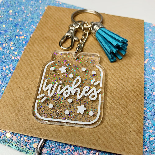 Little Jar of Wishes Resin Keychain