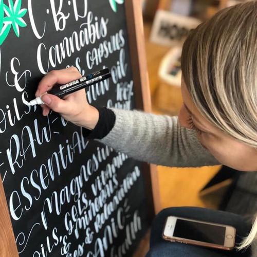 Custom Chalkboard Lettering