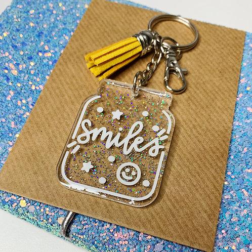Little Jar of Smiles Resin Keychain