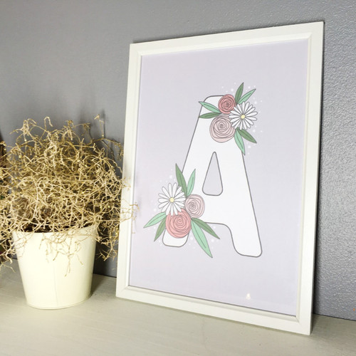 Hand Lettered Initial Gift