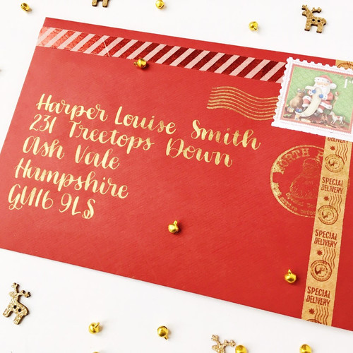 Hand Designed Letter from Santa