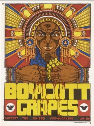 Xavier Viramontes, Boycot Grape, 1973