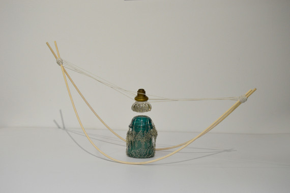 Material Sketch: dowels, string, wire, found objects