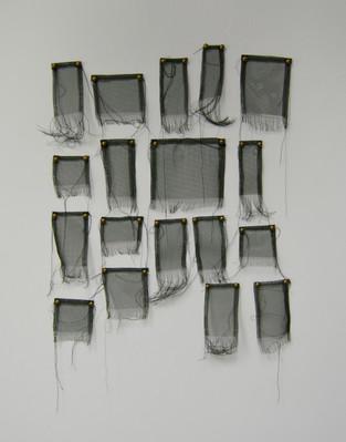 Material Sketch: screen, tacks, thread