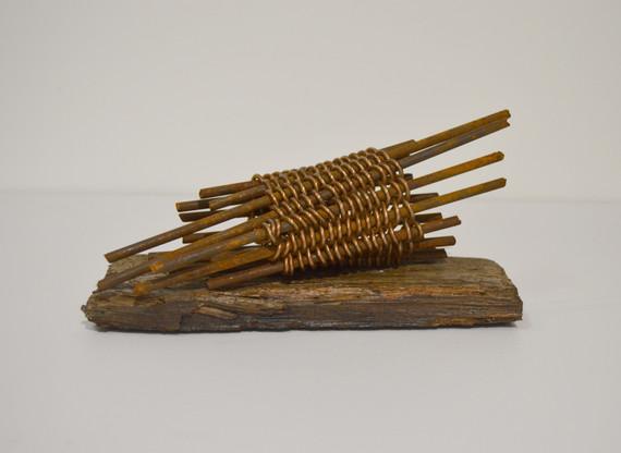 Material Sketch: steel, cord, wood