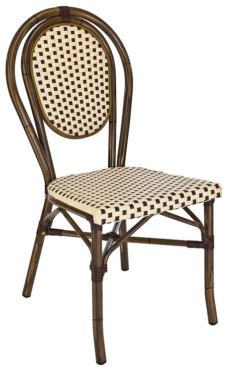 Chaise Paris look bamboo empilable