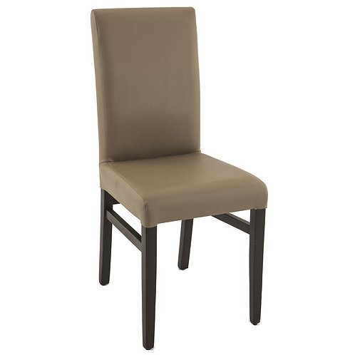 Chaise Lisa Structure Hêtre simili cuir Taupe