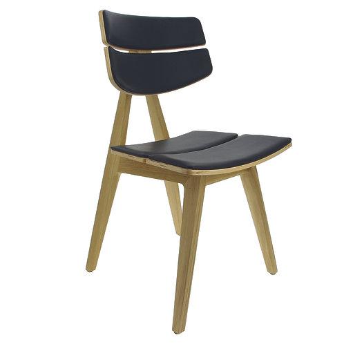 Chaise Blois assise en simili cuir