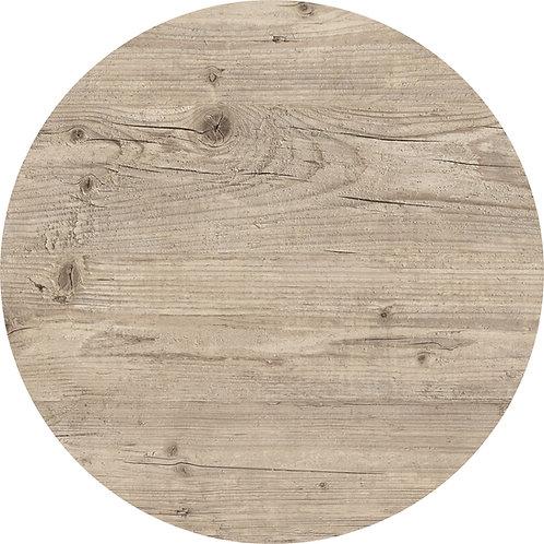 Plateau de table rond Bois pin clair