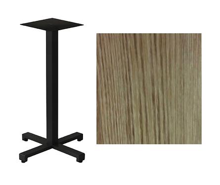 Pied Titan et Plateau de table Compact Chene