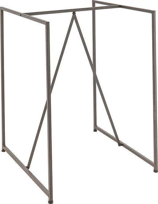 Pied de table Style industriel Factory bar 80 Gun métal
